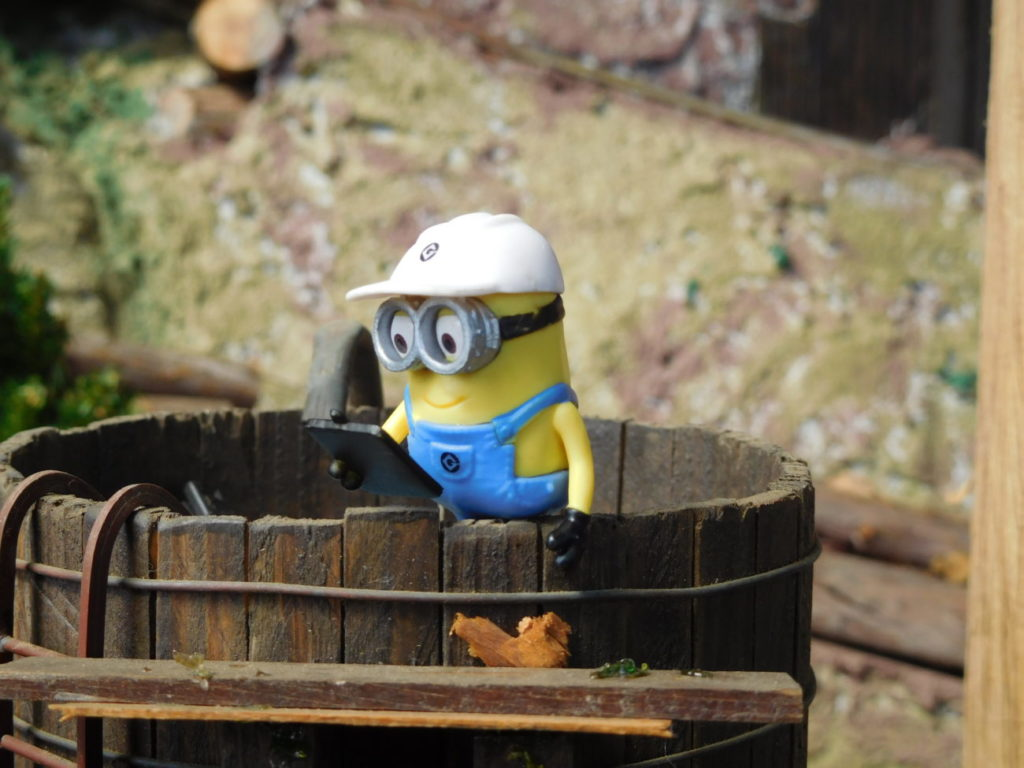 Minion atop the Water Tower
