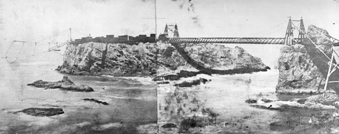 Rockport Suspension Bridge and Chute