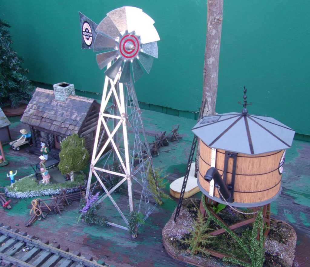 Water tank and windmill pump to fill it